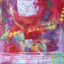 Acrylmalerei, Bunt, Mischtechnik, Farben