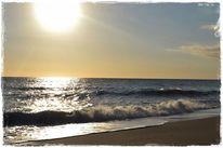 Abendstimmung, Welle, Strand, Spanien