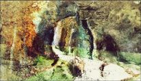 Weg, Bildbearbeitung, Wald, Malerei