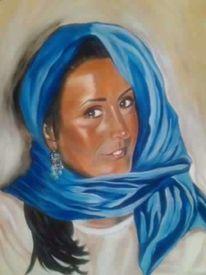 Frau tuch ohrring, Malerei, Menschen