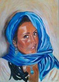 Frau tuch augen, Malerei, Menschen