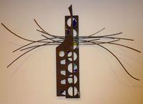 Rost metall glas, Kunsthandwerk, Metall
