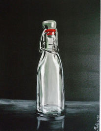 Glas, Leer, Flasche, Malerei