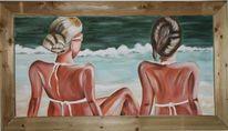 Strand, Urlaub, Meer bikini, Malerei