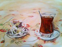 Tee mokka, Malerei, Stillleben, Tee