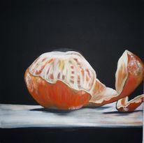Orange, Schale, Südfrucht, Malerei