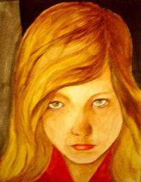 Acrylmalerei, Menschen mädchen, Realismus, Malerei