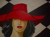 Menschen, Ölmalerei, Roter hut, Malerei