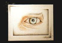 Alter, Kind, Augen, Zeichnungen
