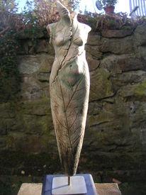 Vergänglichkeit, Skulptur, Ton, Weiblich