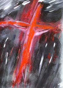 Kreuz rot, Christi, Jesus, Gewalt