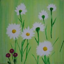 Acrylmalerei, Blumen, Serviertentechnik, Malerei