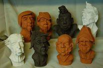 Keramikköpfe, Maske, Kopf, Portrait