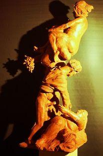 Frau, Kloster, Tonplastik, Skulptur