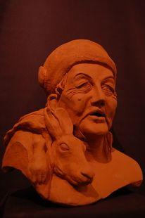 Paradiesblume, Skulptur, Keramikfigur, Keramikskulptur