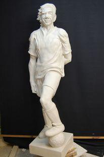 Skulptur, Fußball, Spieler, Mann