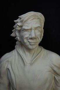 Spieler, Skulptur, Netz, Weiß