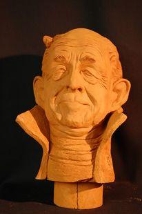 Skulptur, Keramikskulptur, Portrait, Keramik