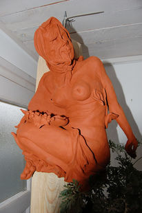 Plastiken, Keramikfigur, Skulptur, Körper