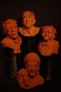 Charaktergesicht, Skulptur, Plastiken, Büste