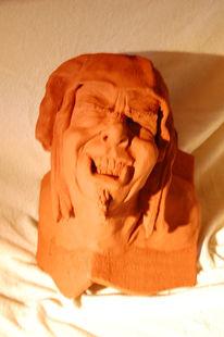 Portrait, Plastiken, Ecke, Keramikfigur