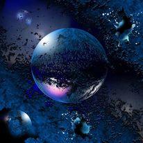 Planet, Stern, Tiefe, Abstrakt