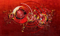 Zeitlupe, Uhrwerk, Rot, Kreis