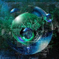 Grün, Dreieck, Traum, Kugel