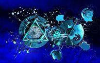 Klecks, Kreis, Universum, Zeiger