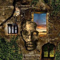Menschen, Sonnenuntergang, Mauer, Mythologie