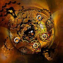 Gold, Virus, Symbol, Computer