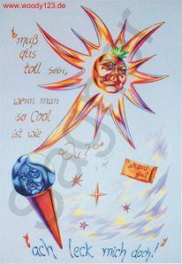 Sommer, Wechselwirkung, Sonne, Stern