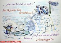 Pinguin, Fisch, Winter, Klima