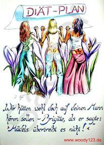 Mädchen, Wahnsinn, Blumen, Mädel