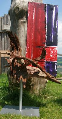 Farben, Skulptur, Modern, Violett