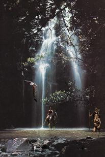 Fantasy amazonen, Amazone, Bilabong, Digitale kunst