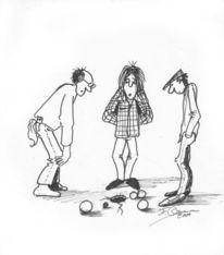 Comic, Humor, Boule, Petanque