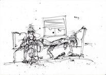 Zeichnung, Indyfank, Kölle, Zeichnungen