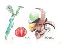 Gemüseundobst, Zeichnung, Zeichnungen, Obst