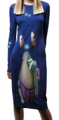 Kleid, Frosch, Design, Mode