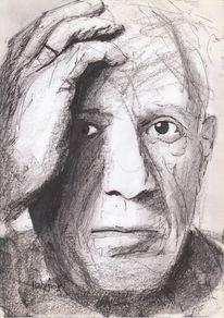Picasso, Zeichnungen, Portrait,