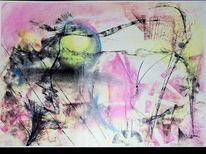 Pastellmalerei, Malerei, Surreal,
