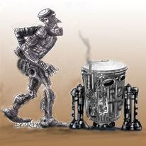 Indyftrank, Steampunk, Kölschwars, Zeichnungen