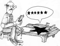 Stern, Zeichnung, Karikatur, Pinnwand