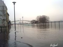 Anrheiner, Hafeneinfahrt, Rheinhochwasser2011 köln, Under water1