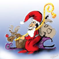 Weihnachten, Digitale kunst,