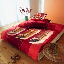 Design, Textil, Bettwäsche, Rot