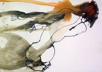 Akt, Sexualität, Aquarellmalerei, Frau