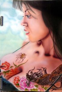 Airbrush, Tattoo