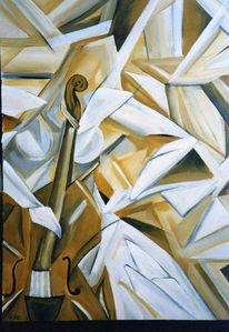 Acrylmalerei, Malerei, Surreal, Cello